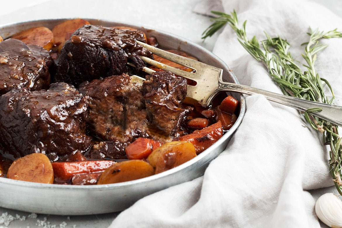 Red Wine Braised Boneless Short Ribs