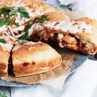 BBQ Chicken Stuffed Pizza