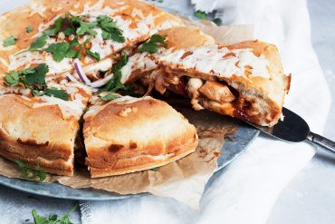 BBQ Chicken Stuffed Pizza
