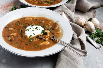 Hungarian Mushroom and Chicken Soup