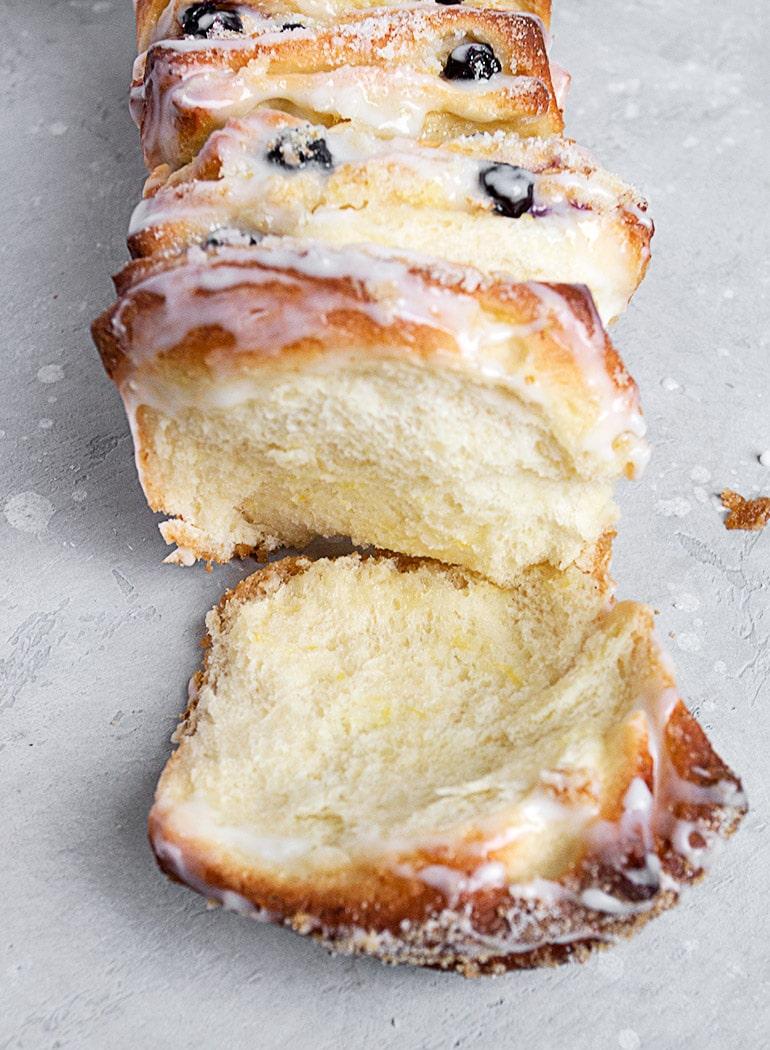 Blueberry Lemon Pull Apart Bread