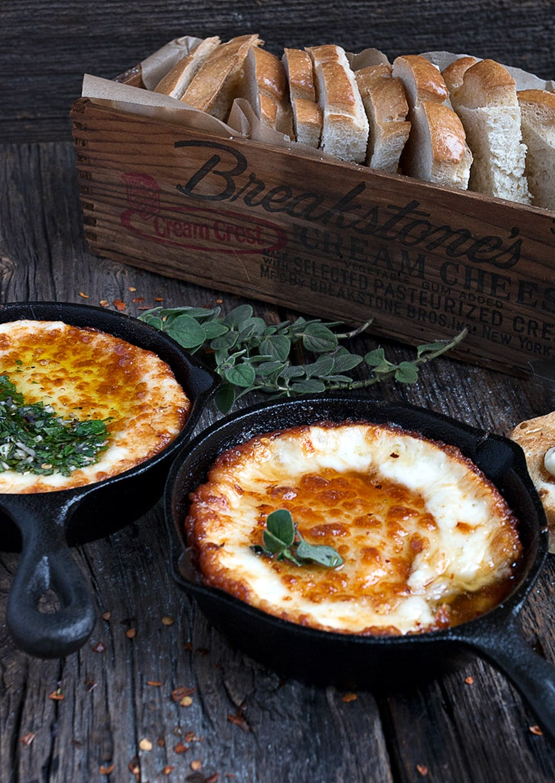 Melted Provolone Cheese Provoleta - Seasons and Suppers