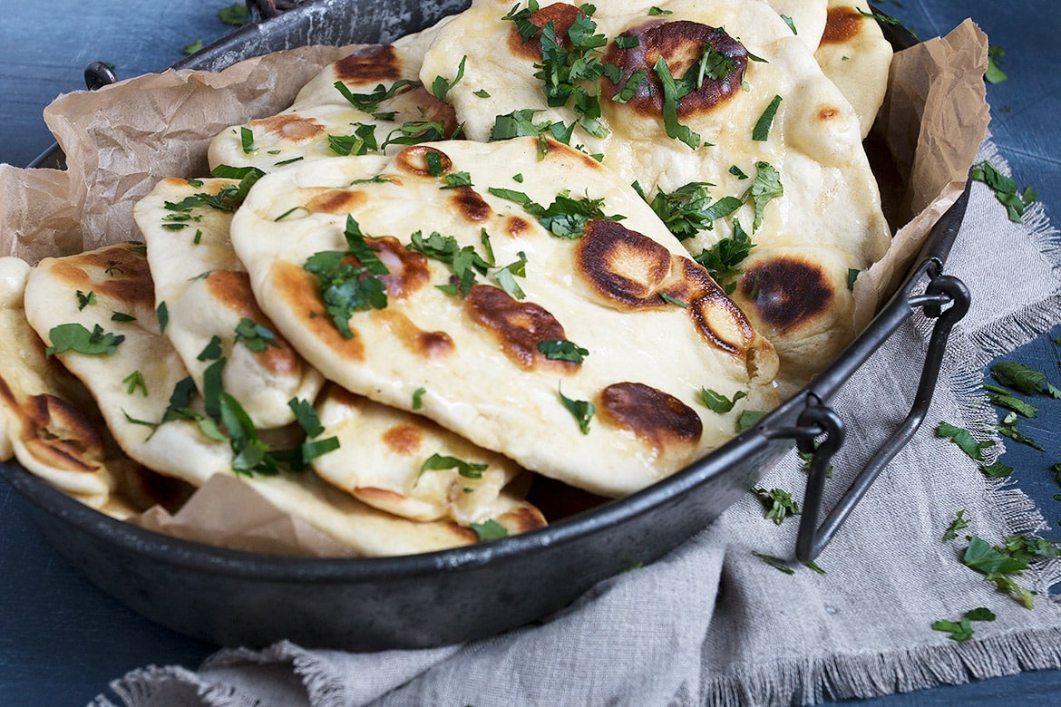 Garlic Herb Naan Bread