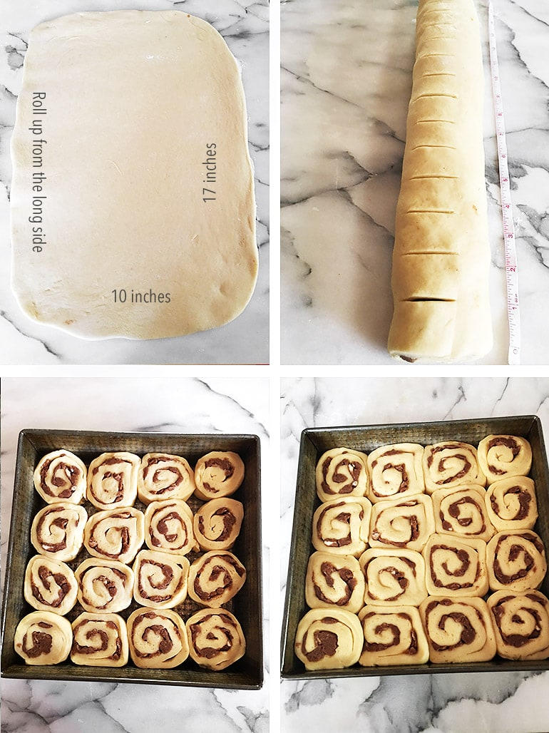 How to Make Maple Cinnamon Rolls Process Photos