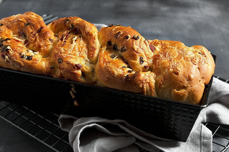 potato bread in loaf pan