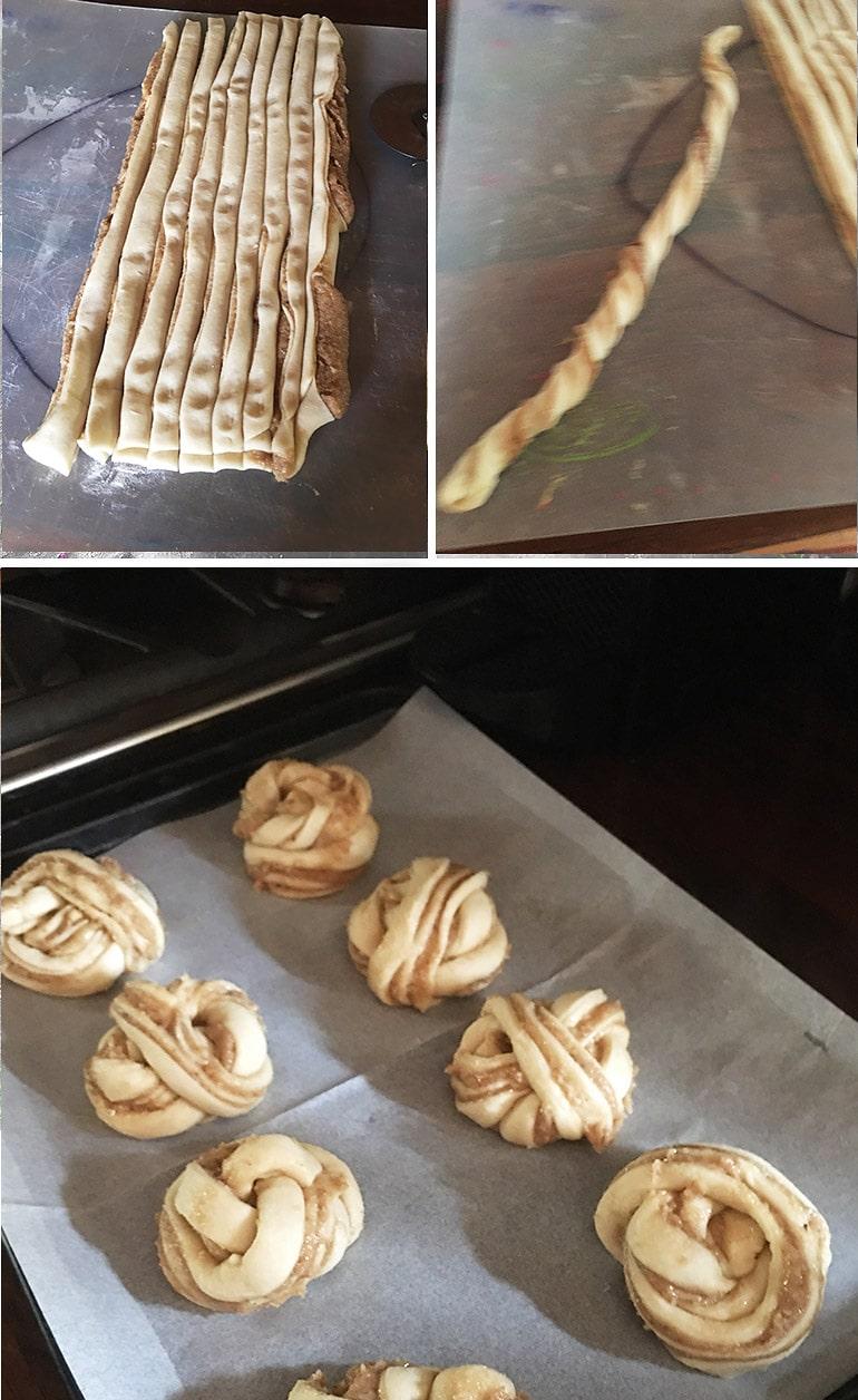 how to shape maple walnut rolls