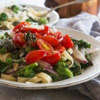pasta primavera in bowl