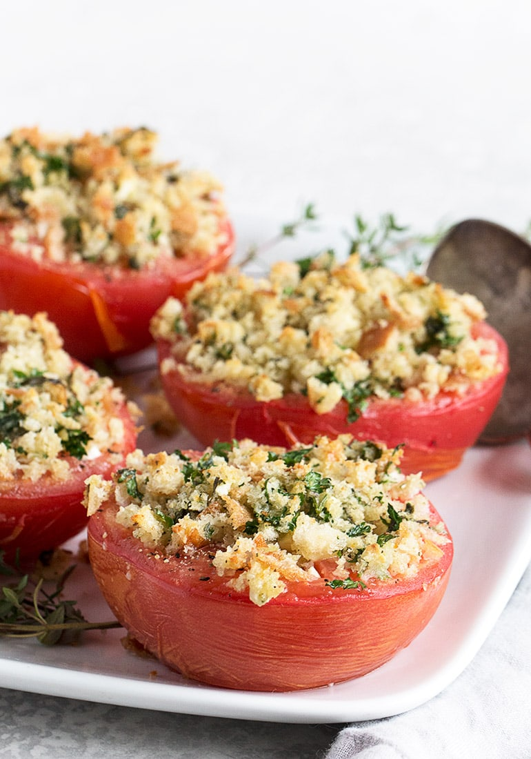 Baked Tomatoes with Goat Cheese