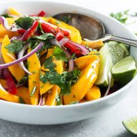 mango salad in bowl