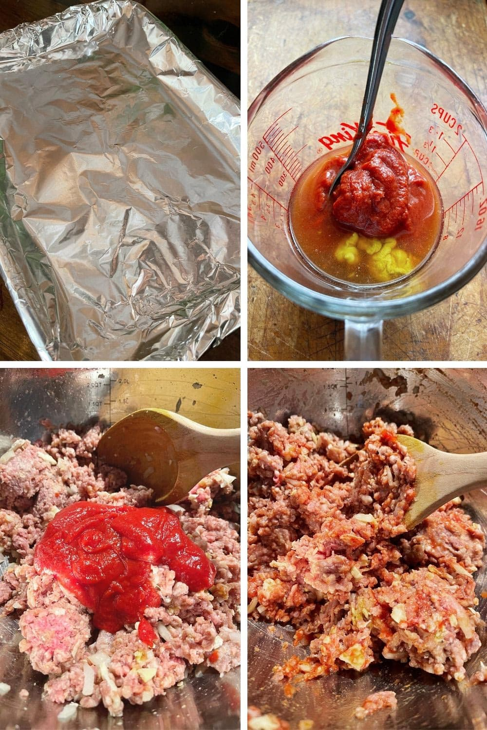 photo collage of making meatloaf 1