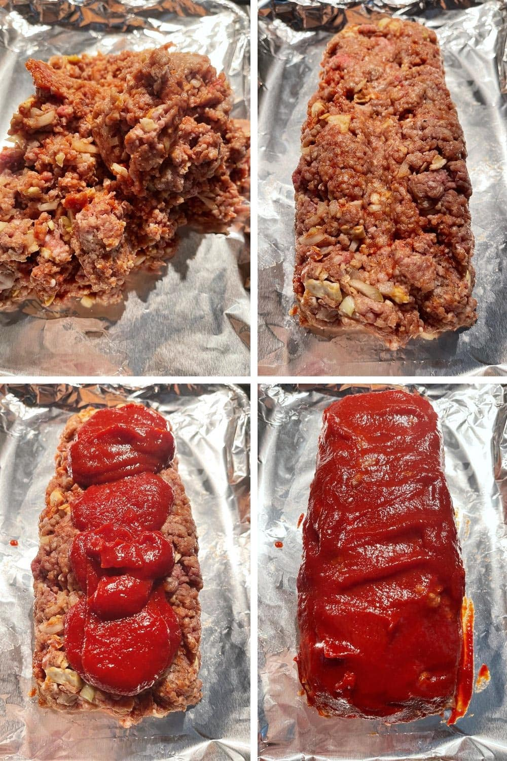 photo collage of making meatloaf 2