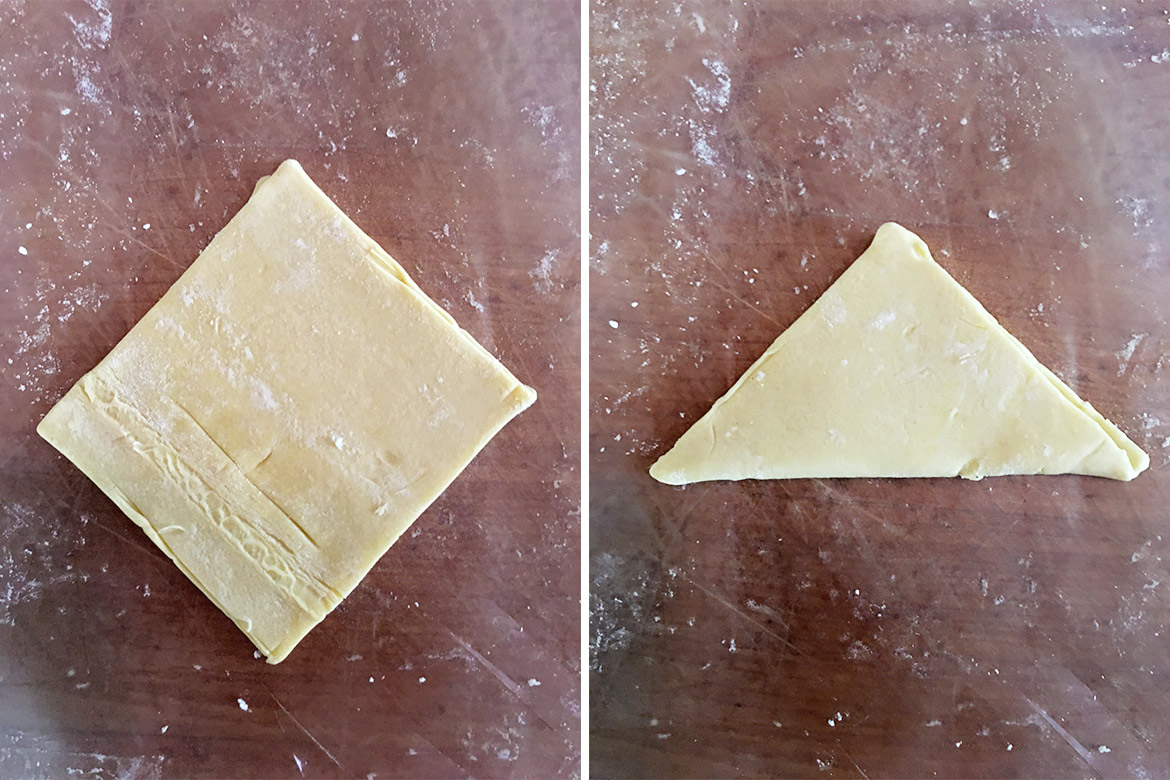 shaping puff pastry appetizers 1