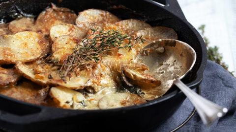 Creamy Skillet Potatoes and Mushrooms