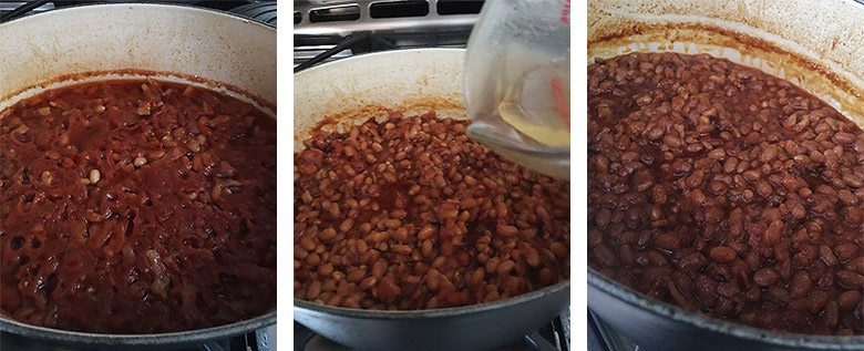 step by step photos of making baked beans