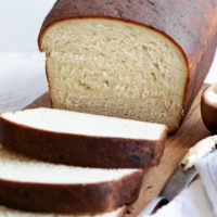 buttermilk yeast bread sliced on cutting board