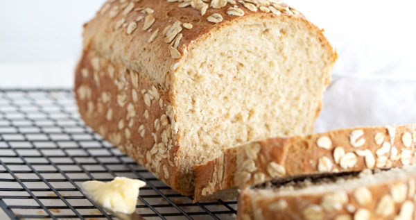 honey oatmeal bread sliced