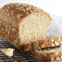 honey oatmeal bread sliced