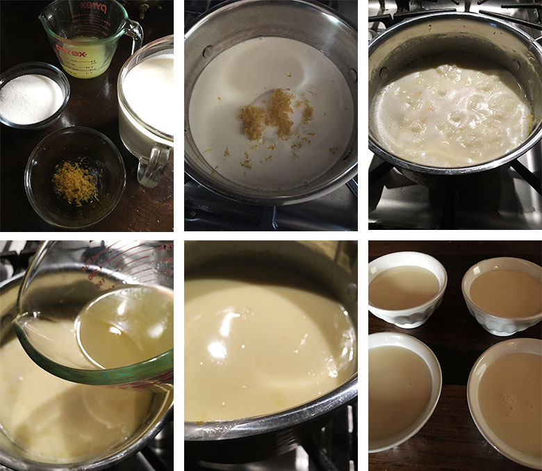 step by step photos of making lemon posset