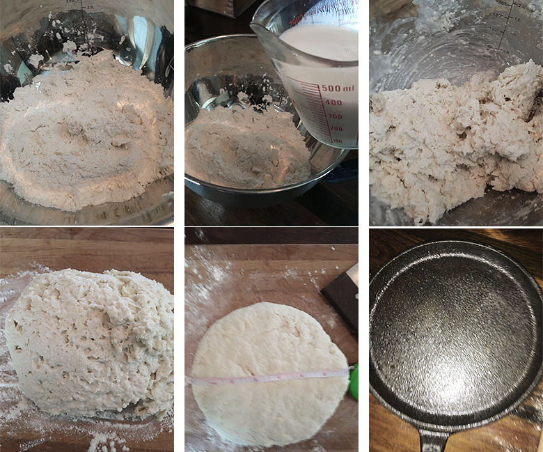 step by step photos of making no yeast bread 2 of 3