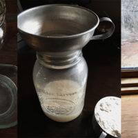 starting sourdough starter collage