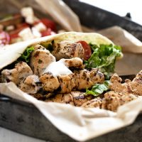chicken souvlaki in pita