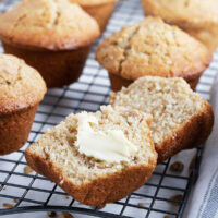 maple walnut muffins on cooling rack