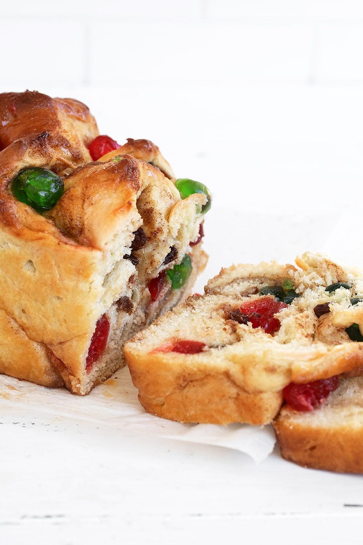 sliced bread showing inside