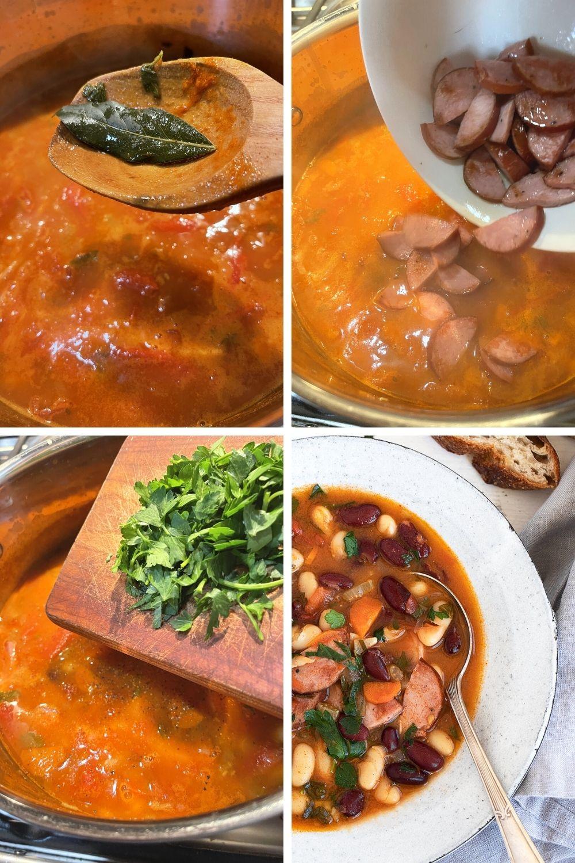 finish making Hungarian bean soup