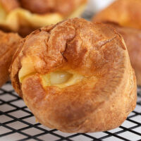 yorkshire pudding on cooling rack