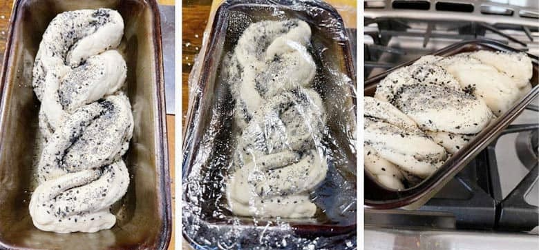 photo collage of making Everything Bread 4