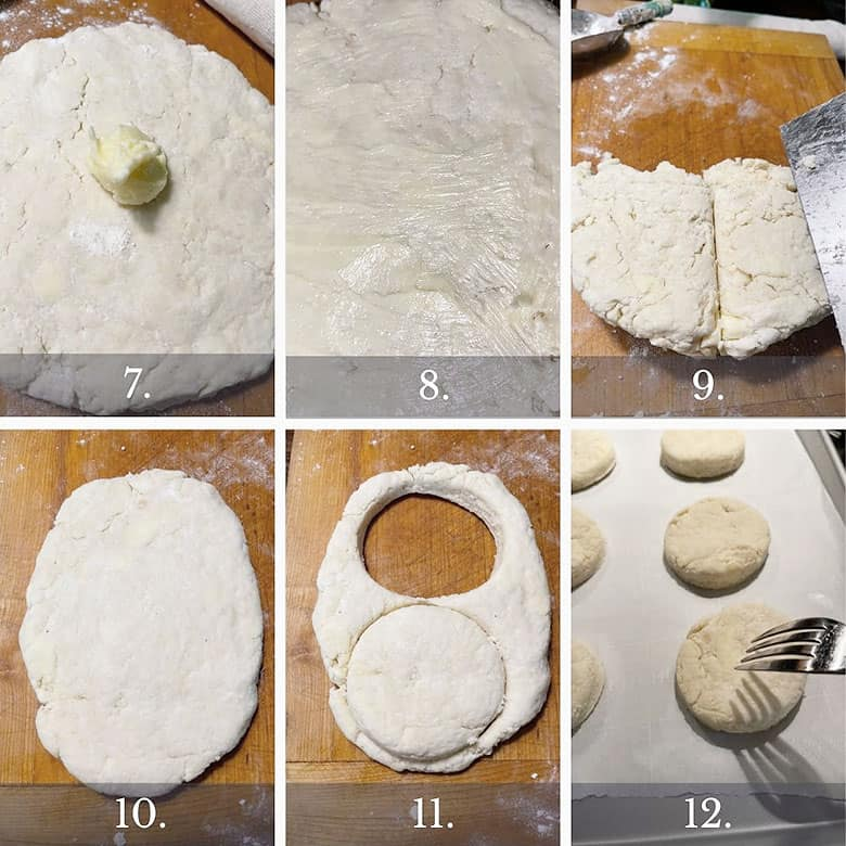 photo collage of steps to make old-fashioned strawberry shortcake 2